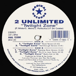 2 Unlimited - Twilight Zone (Vinyl!)