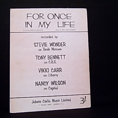 WONDER STEVIE - For Once In My Life - Others