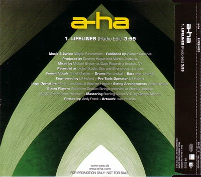 A-Ha - Lifelines PROMO