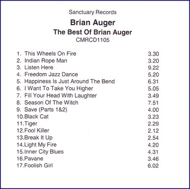 Auger Brian - Best Of Brian Auger PROMO