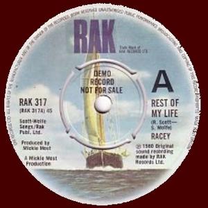 Racey - Rest Of My Life DEMO (Vinyl!)